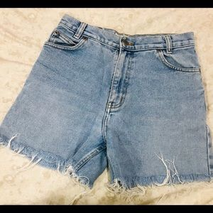 Original 90s Jean Distressed Shorts